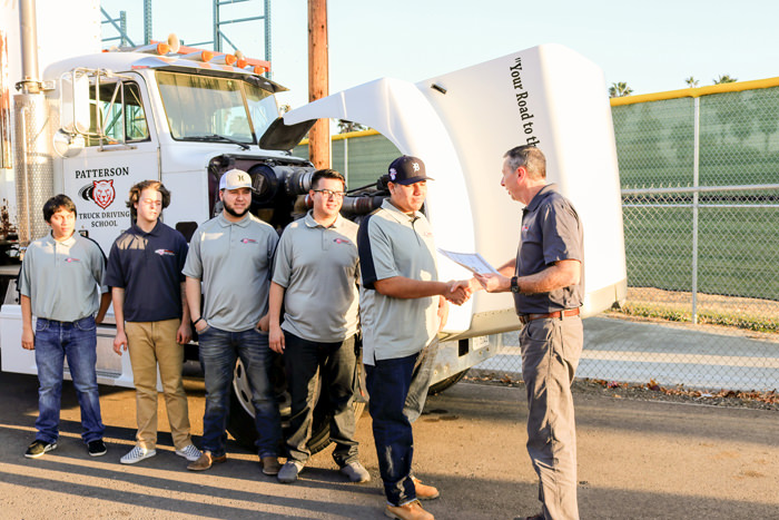 Patterson trucking students